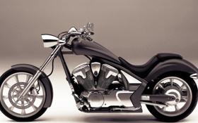 Обои серый, колеса, мотоцикл, Honda VT1300CX
