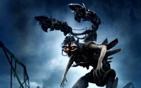 Картинка оружие, фон, существо, броня, BlackSite: Area 51