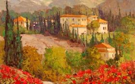 Обои арт, Sean Wallis, Flowering Italy