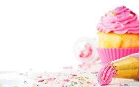Обои десерт, пирожное, крем