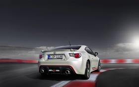 Картинка Авто, Белый, Машина, Toyota, GT86, В Движении, GT 86