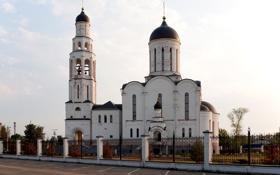 Обои дорога, забор, церковь, Подмосковье, Илии Пророка