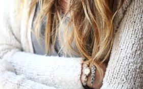 Картинка волосы, часы, браслет