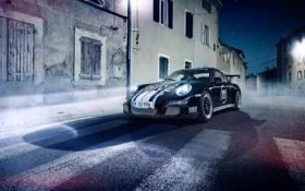 Обои 997, Porsche, Front, GT3, Cup, Asphalt, Nigth