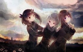 Обои девочки, Sora no woto, звуки неба