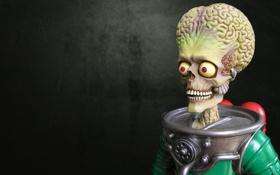 Обои череп, скафандр, инопланетянин, костюм, скелет, пришелец, мозги