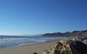 Обои песок, море, волны, пляж, небо, вода, пейзаж