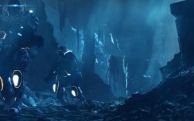 Обои оружие, арт, солдаты, Section 8, пещеры