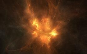 Обои взрыв, вспышка, свет, звезды, аномалия