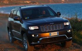 Обои внедорожник, передок, front, Jeep, Grand Cherokee, Summit