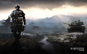 Обои игра, солдат, танк, Battlefield, play4free