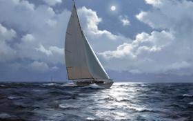 Картинка море, яхта, James Brereton