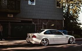 Картинка белый, тюнинг, бмв, BMW, white, E46