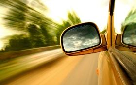 Обои стекло, машины, окна, скорость, зеркало, окно