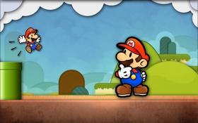 Обои игра, Марио, game, mario, funny, hero, смешные