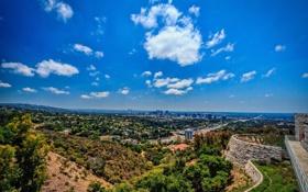 Обои Калифорния, панорама, Лос-Анджелес, Los Angeles, California