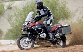 Обои песок, bmw, мотоцикл, эндуро, r1200 gs