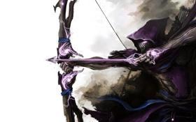 Обои магия, лук, арт, капюшон, стрелы, hawkeye, the avengers