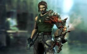Картинка пистолет, рука, Bionic Commando