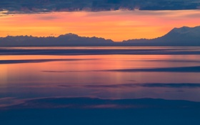 Обои water, Alaska, Last Light, clouds, Cook Inlet, sunset