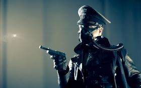 Картинка пистолет, немец, офицер