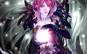 Обои магия, девушка, фантастика, перья