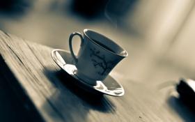 Картинка макро, стол, чашка