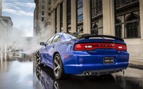 Обои Синий, Дым, Машина, Додж, Dodge, Car, Автомобиль