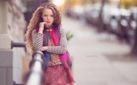 Картинка улица, портрет, девочка