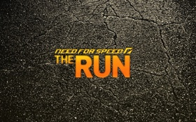 Обои асфальт, трещины, фон, надпись, need for speed the run