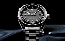 Картинка часы, Omega, black
