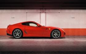 Обои феррари, красная, ferrari 599 gto