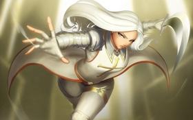Картинка атака, женщина, рука, меч, крестоносец, white hair