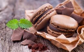 Картинка мята, шоколадное, какао, шоколад, макарун, macaron, печенье