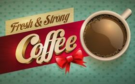 Картинка стакан, фон, надпись, кофе, coffee