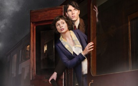 Обои ретро, Tuppence Middleton, леди исчезает, The Lady Vanishes, Tom Hughes