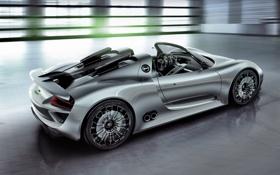 Обои Concept, порше, Porsche, красивый, спайдер, 918, суперкар