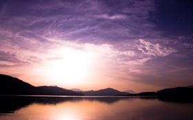 Картинка вода, горы, пейзажи