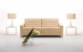 Обои дизайн, комната, диван, интерьер