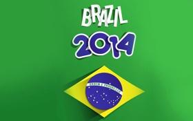 Обои футбол, спорт, Бразилия, Brazil, 2014