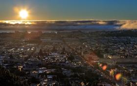 Картинка закат, город, San Francisco