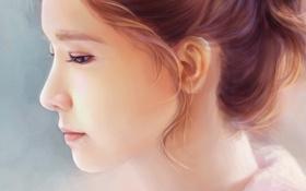 Картинка девушка, музыка, арт, профиль, азиатка, SNSD, Girls Generation