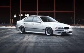 Картинка бмв, BMW, silver, серебристая, tuning, E39