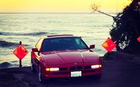 Обои BMW, E31, 1997, БМВ, Red, 850ci, Красная