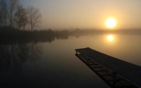 Обои вода, солнце, свет, озеро, настроение, пейзажи, тишина