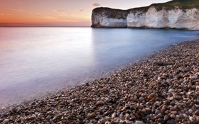 Картинка море, вода, галька, скала, камни, фото, океан