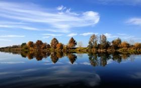 Обои реки, река, небо, фото, германия, вода, деревья
