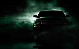Обои туман, Ford, mustang, cars, auto