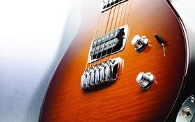 Обои дерево, гитара, струны, лак