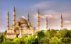 Обои İstanbul, Турция, Türkiye, Стамбул, Sultanahmet Camii, Мечеть Султанахмеет, город